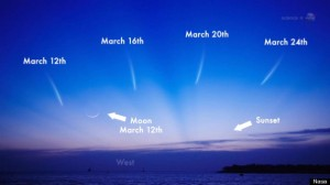 Comet PANSTARRS should come into view for observers at northern latitudes around March 8, and could be as bright as stars in the Big Dipper. Source