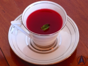 Plomeek tea, recipe available from Food Replicator