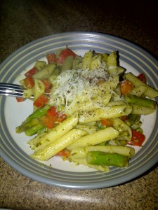 Asparagus with pasta