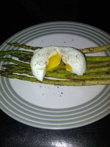 Pan fried with a poached egg