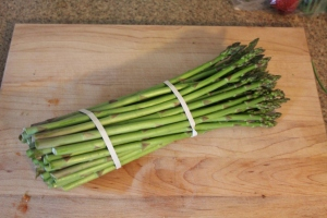 Fresh bunch of asparagus
